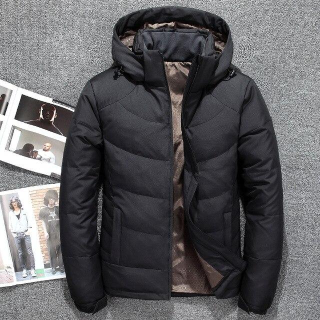 90% Белые куртки-пуховики Для мужчин толстые пуховики брендовая одежда с капюшоном Подпушка куртка Для Мужчин's Повседневные куртки мужской верхней одежды