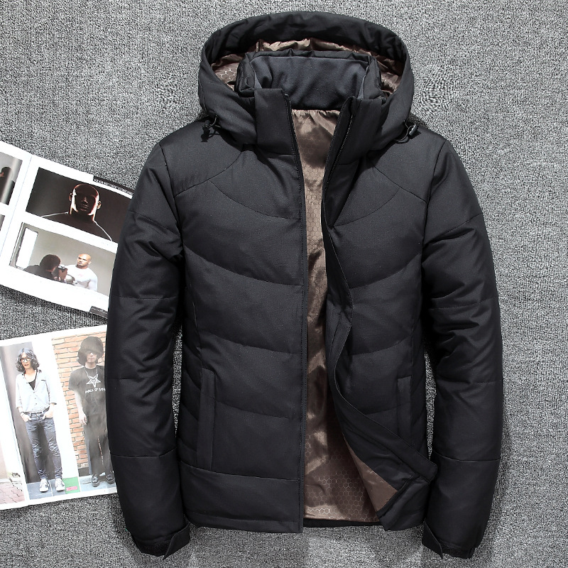 90% White Duck   Down   Jackets Men Thick   Down     Coats   Brand Clothing Hooded   Down   Jacket Men's Casual Parkas Male Outerwear