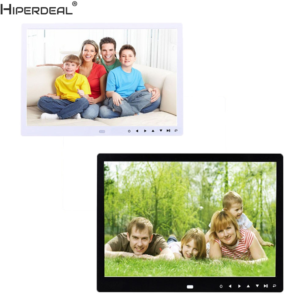 цена на HIPERDEAL Smart House 12-Inch Front Touch Screen Button High-Definition Screen Digital Photo Frame