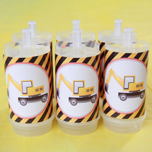 Construction Vehicle Push Bottle Stickers Farm Theme Construction Party Decorations Boys Birthday Party Decor Supplies ngk farm stickers