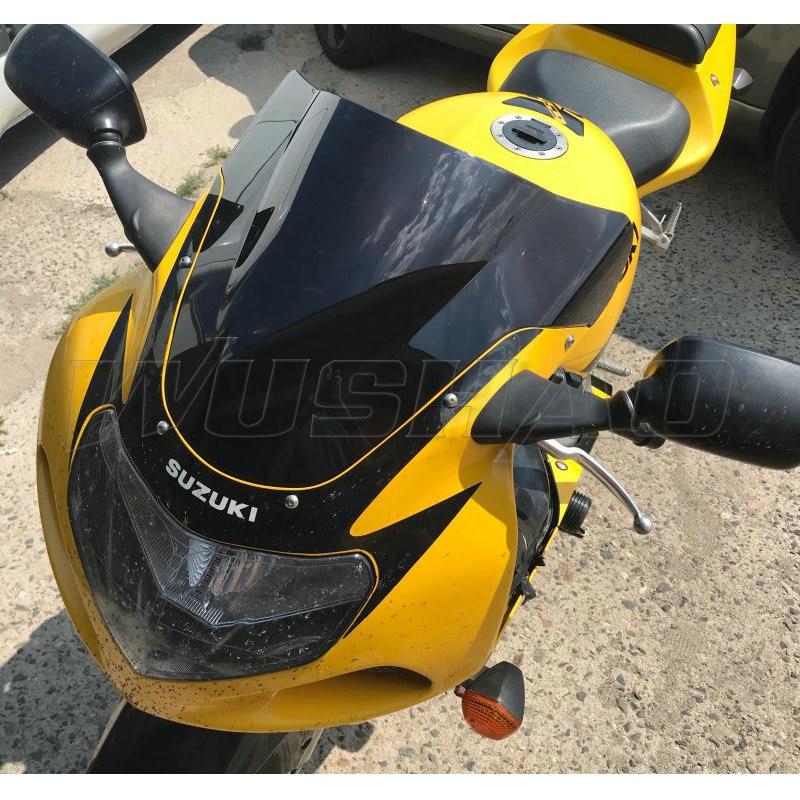 Para-brisa para motocicleta, proteção contra vento para moto de 2000 2001 2002 2003 suzuki gsxr750 gsxr600 gsxr1000 gsxr GSX-R 750 600 1000 k1 k2 k3