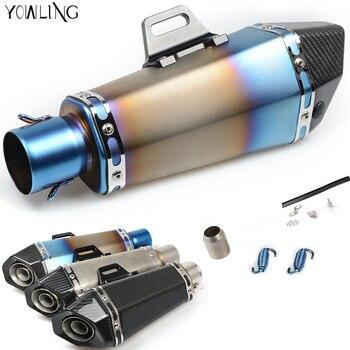 Universal Motorcycle Real carbon fiber exhaust Exhaust Muffler pipe FOR kawasaki versys 650 yamaha yzf r125 bajaj pulsar 200 ns