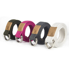 New 19-color Unisex Canvas Belt Casual Business Jeans Fashion Style Double Ring Buckle Luxury Women gg belt  chain