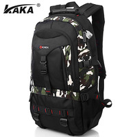 KAKA Oxford Multifunctional Camouflage Backpack Men 2016 New Leisure Backpacks With Password Lock Large Capacity School