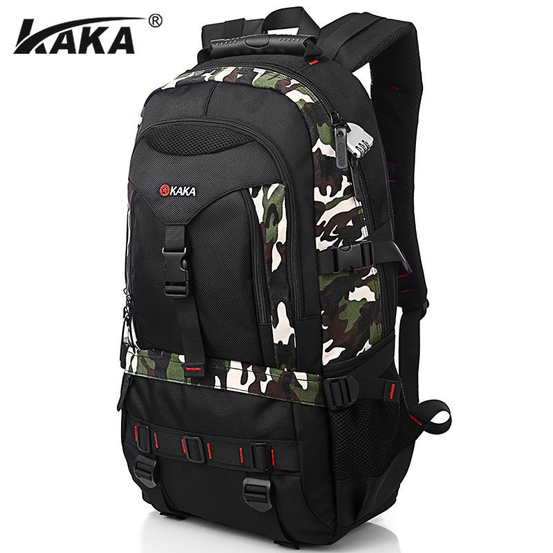 KAKA Fashion Men Backpack Oxford 15 Inch Laptop Backpack Large Capacity Male Travel Bag School Backpacks 14 15 15 6 inch flax linen laptop notebook backpack bags case school backpack for travel shopping climbing men women