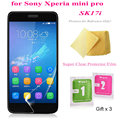 5pcs Super Clear Screen Protector Film for Sony Xperia mini pro SK17i Premium Screen Guard Cover Protective Films Free Shipping