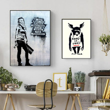 Banksy Keep Real Artwork Posters And Prints Wall Art Canvas Painting For Living Room Decoration Home Decor Unframed Quadros