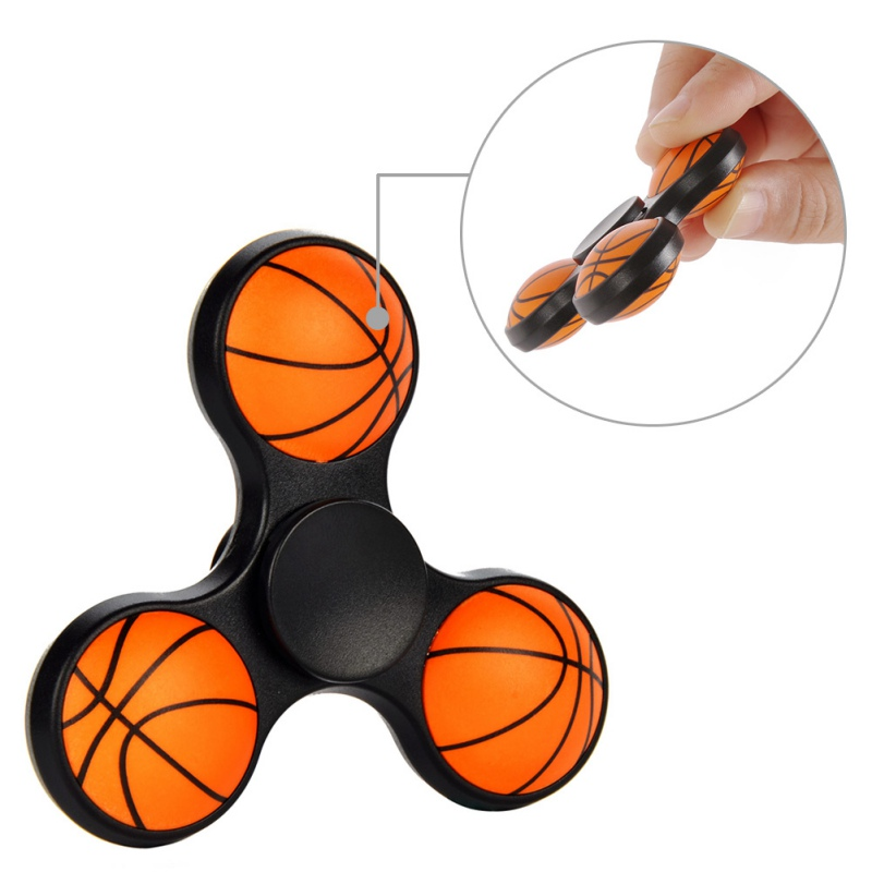 Baseketball Football Fidget Spinners Plastic Puzzle For Autism EDC and ADHD Anti...
