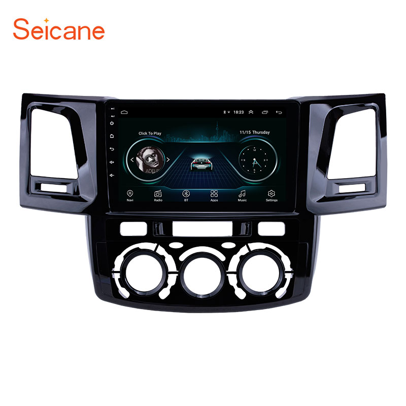 Seicane 9 Android 8.1 Radio for 2008 2014 Toyota Fortuner/Hilux Manual A/C Left Hand Driving Car GPS Navigation support Carplay