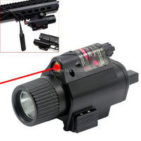 2in1 200 Lumen Tactical CREE LED Flashlight Combo LIGHT Red Laser Sight Combo For Pistol Hunting