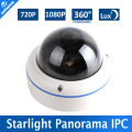1MP/2MP Fisheye Starlight IP Camera POE Dome Outdoor 720P/1080P 0.0001Lux Low Lux Day/Night Color Image,360 Degree View IP Cam