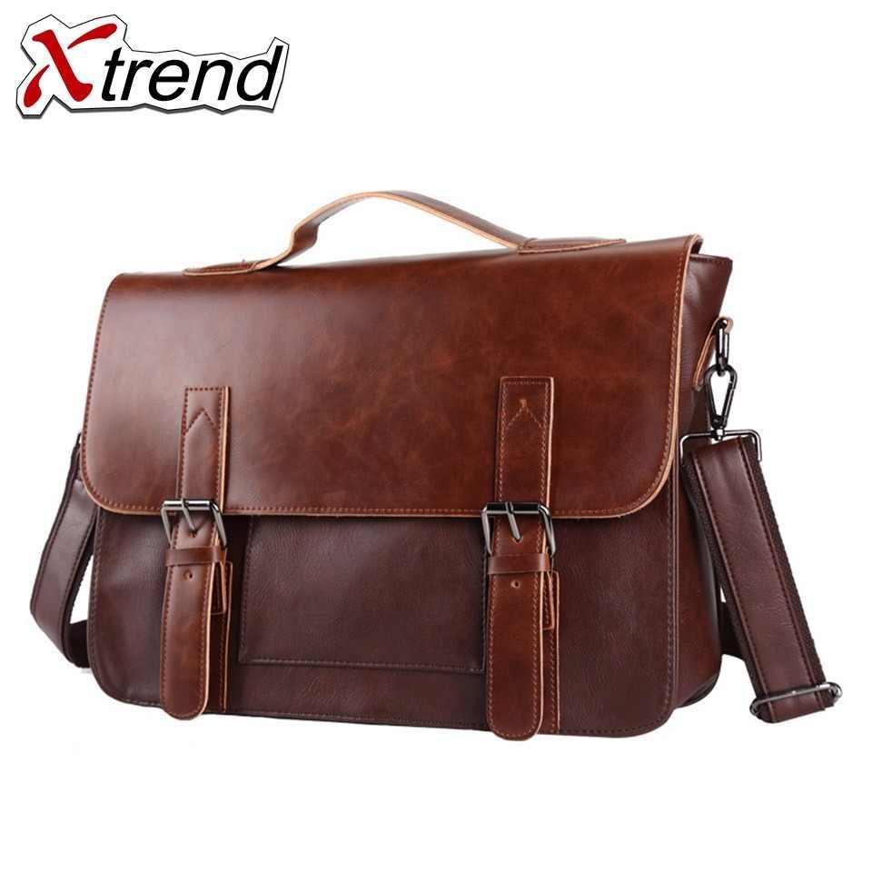 6ba64df653 2018 Xtrend Brand Bolso Hombre Leather Bag Men Crossbody Bags Messenger  Men's Travel Shoulder Bags Solid