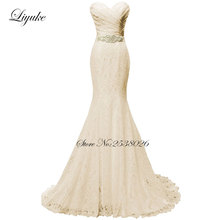 Liyuke Mermaid Lace Beaded Sash Mother of the bride dress Off The Shoulder Formal Dress Pleat Lace(China)