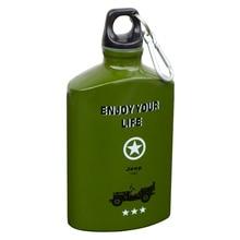 500 ML Tragbare Armee Aluminiumlegierung Glaskolben Wasserkocher Drink Klettern Reise Sport Fahrrad Meine Wasserflasche