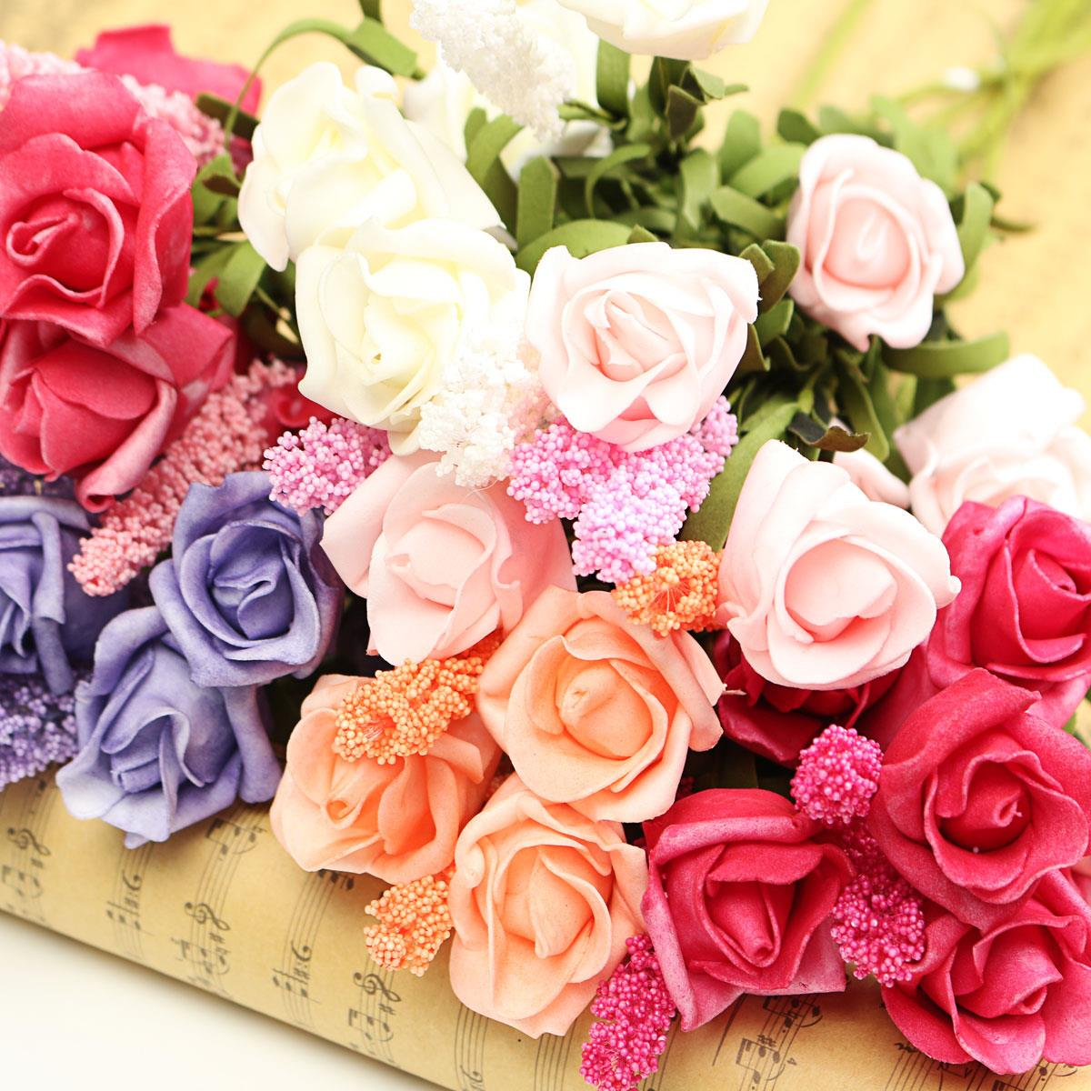 Online get cheap peonies silk flowers aliexpress alibaba group wedding party bouquet bridal floral lavender rose 9 heads artificial flower peony silk flowers hydrangea home dhlflorist Images