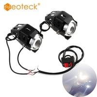 Neoteck 2 Pcs 15W U5 Motorcycle Motorbike Headlight LED Fog Spot Lights Bulb LED Driving Motorbike Lamp Fog Spot Head Light Lamp