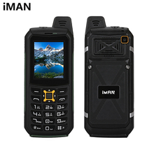 iMAN S2 Triple Proofing Phone Dual SIM IP68 Waterproof Shockproof Dustproof 2200mAh Battery 2.0 inch SC6531CA Chipet 21 Key