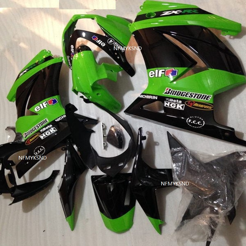Motorcycle Fairing Ninja EX250R 2008 2014 Green/black Motorcycle Fairing for Kawasaki ZX250R 08 14 Fairings parts