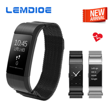 Lemdioe S18 Bluetooth Smart Band Поддержка сердечного ритма Приборы для измерения артериального давления Мониторы смарт-браслет Водонепроницаемый браслет для IOS Android