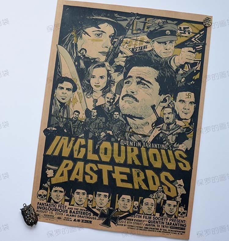 carteles para paredes inglourious basterds classic movie poster pared bar house art decor mix artculos carteles