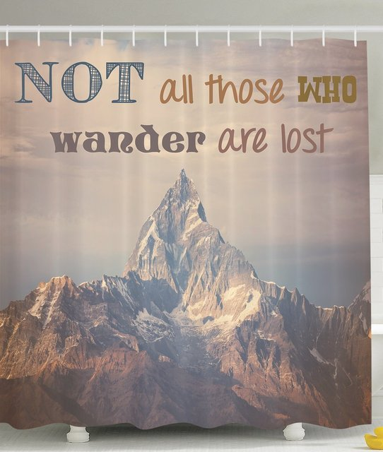 Beau Quotes Shower Curtain Motivation Positive With Inspirational Quotes For  Life Mountain Scenic Explorer And Hipster Not
