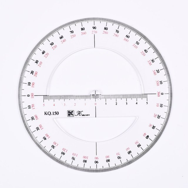 360 Degree Circle Diagram Pioneer Avh P5700dvd Wiring Aliexpress Com Buy 15cm 6inch Double Scale Circular Protractor