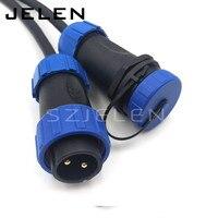 SP2110/P2-SY2111/S2  wasserdicht Aviation Stecker 2 pin Stecker buchse  IP68  LED Power kabel stecker  Industrielle stecker