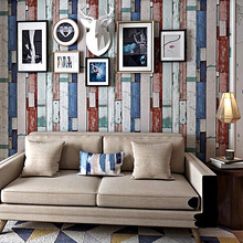 Nordic vintage style imitation wood grain wallpaper Bar cafe sticker living room bedroom clothing store PVC decoration wallpaper beibehang imitation wood grain wood floor wallpaper chinese style retro wood texture bar restaurant clothing store wholesale res