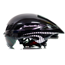 2018 Scrohiro funciona ciclismo vidrio casco bici Mtb Mountain Bike bicicleta Road casco visor lente 58-61 cm casque velo
