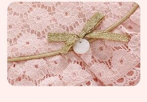 Image 4 - ため秋のコットンレース A ラインドレス子供服洗礼新生児ガール服 0 2Y ピンク白