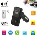 Car Kit MP3 WMA Player 12V Bluetooth MIC FM Transmitter Modulator SD USB Card Mini LCD Remote Controller
