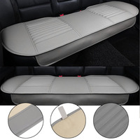 General Car Seat Cushions Mat Charcoal Auto Double Back Seat Pad Breathable Anti slip Synthetic Leather Car Rear Seat Cover