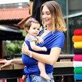 2016 Продвижение Слинг Эластичный Wrap Перевозчик Canguru Mochila Рюкзак Сплошной Цвет Две Плечи Эластичный Хлопок Hipseat
