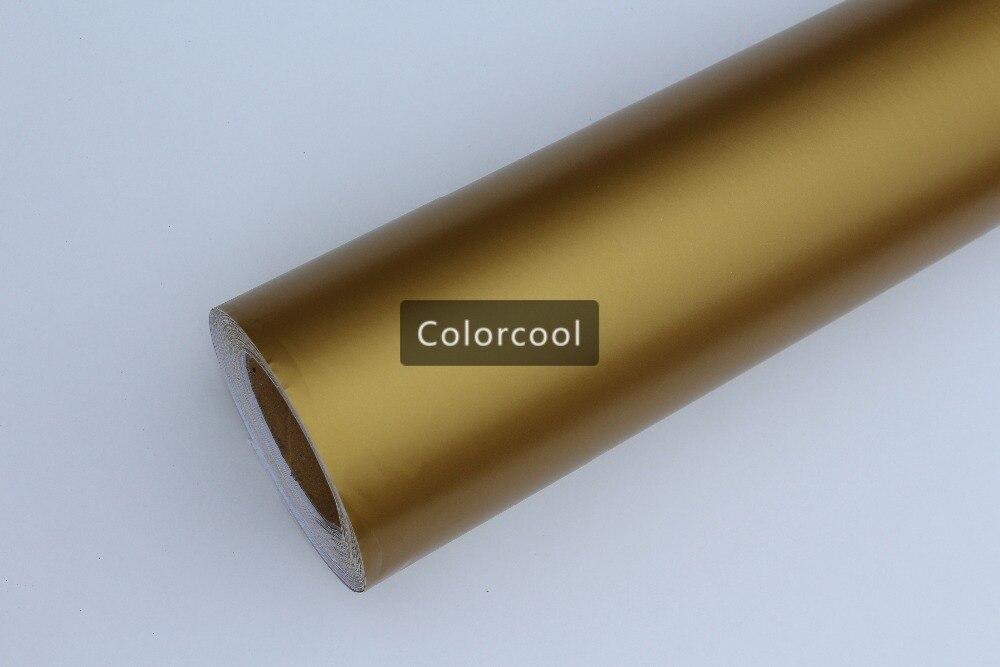 Autocollant de vinyle de voiture mat or changement de couleur film adhésif mat pour moto air bulle qualité gratuite