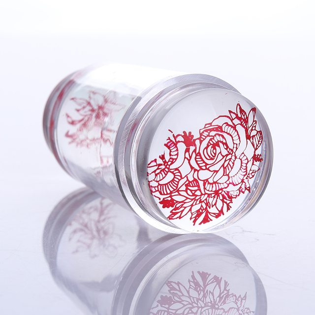 Silicone Nail Stamper with Nail Scraper