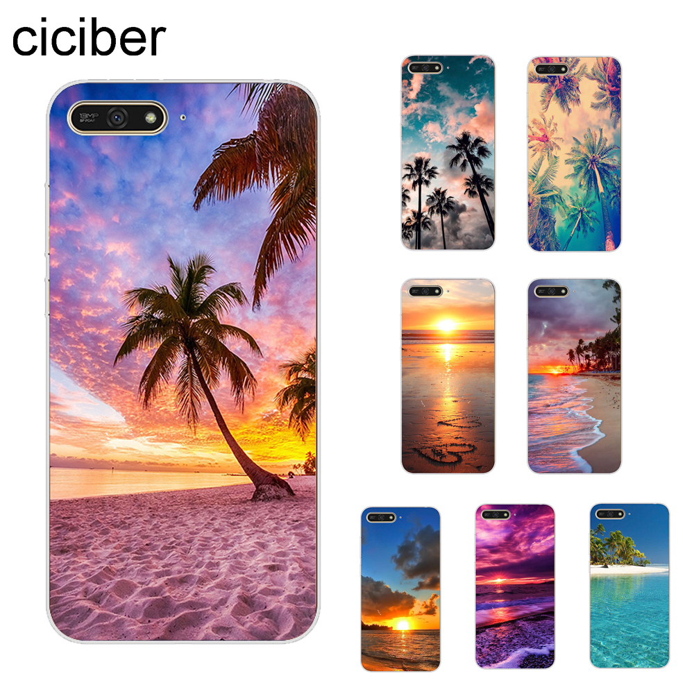 ciciber Hawaii <font><b>Summer</b></font> Beach Ocean Sky Cover For <font><b>Huawei</b></font> Y9 2019 Y9 <font><b>2018</b></font> Y7 Prime <font><b>Y6</b></font> <font><b>2018</b></font> <font><b>Y6</b></font> Pro 2017 Y5 2017 Phone <font><b>Case</b></font> Soft TPU image