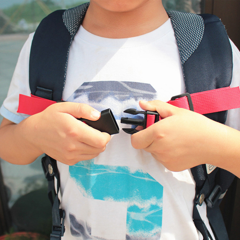 4 Colours Adjustable Children's Outdoor Backpack Shoulder Strap Fixed Belt Strap Non-slip Pull Belt Bag Chest Strap