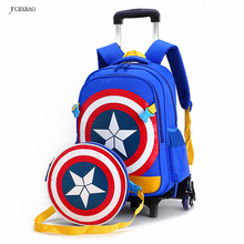 Rolling school backpacks girls and boys trolley bags school bag wheels backpack schoolbag teenage girl bookbag mochila bolsos