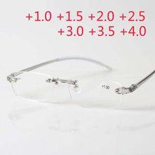 79f37f62ac9 Plastique sans monture hommes femmes lunette loupe vue rétro marque  comfortable Ultra-léger TR90 lecture bayanGlasses presbyte .
