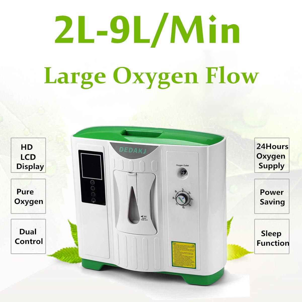 9L концентратор кислорода Портативный очиститель воздуха генератор медицинская машина DDT-2A 110 В США/220 В ЕС спальный модель инфракрасного уда... ...