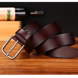 Image 2 - WESTERN AUSPICIOUS Genuine Leather Belt Luxury Designer Belts Men Cowskin Fashion Strap Male Jeans for Man Cowboy Belt Famous
