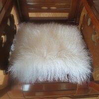 2015 Newest Genuine Mongolian Tibet Lamb Fur Pillow Cover 21 X21 Hot Sale Free Shipping