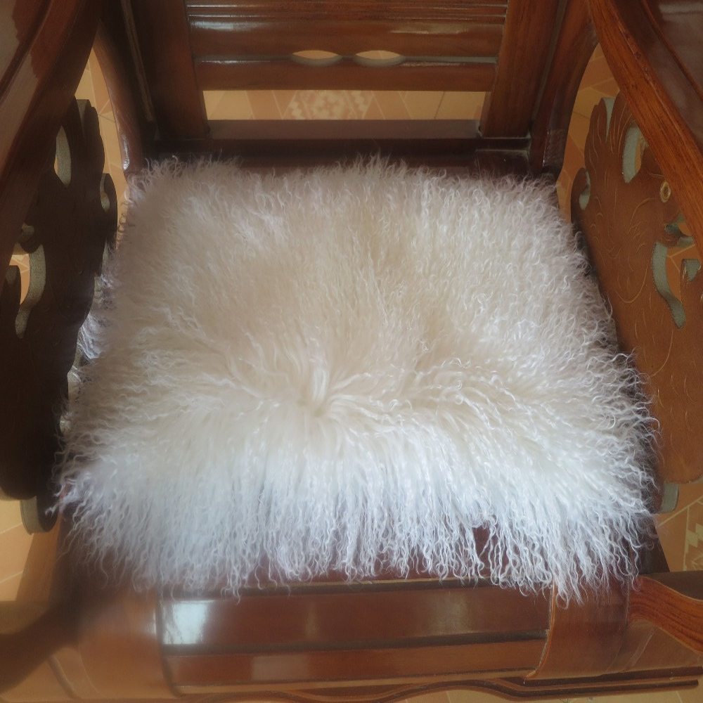 Throw Pillows For White Sofa : 2016 Mongolian Fur Cushion Cover Covers Decorative Pillows Sofa White Throw 26