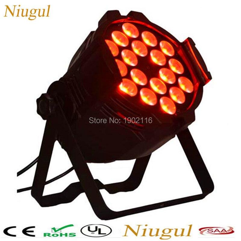 2pcs/lot LED Par Stage Light 18x15W 5in1 RGBWA LED Par Can Hiqh Quality Par Light DMX512 Disco DJ Party KTV Lighting Projector