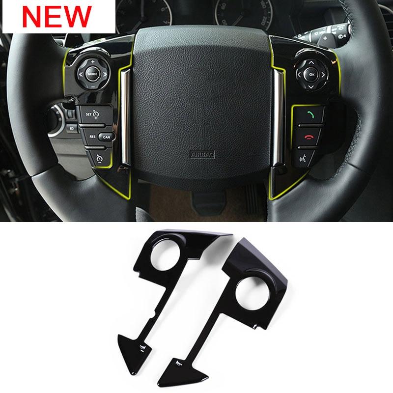Steering Wheel Trim 2pcs Car Steering Wheel Cover Trim Decorative Sticker Fit for Range Rover Sport 2010