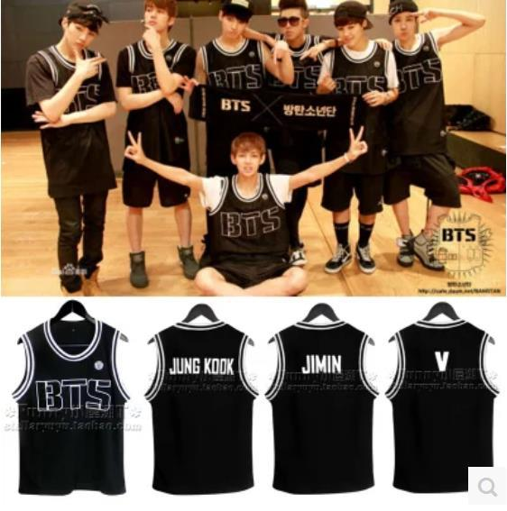 Kpop BTS Bangtan children baseball cap sleeveless dress Youth Club BTS bulletproof vest  ...