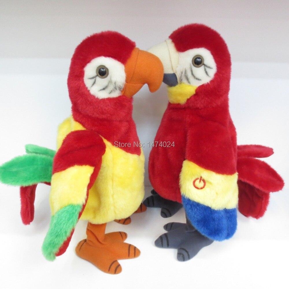 Bird Talking Toy : Popular talking stuffed parrot buy cheap