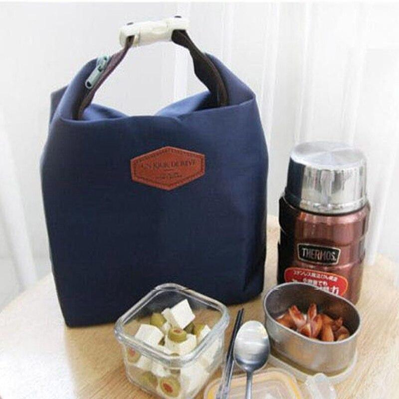 Beautiful Lunch Bag & Lunch Box Cooler Zipper Bag Bento Dot Tote Lunch Pouch Little Pattern bolsa termica Smile цена