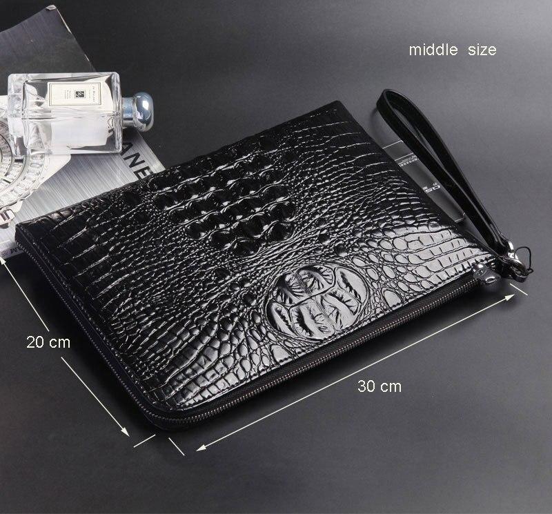 Винтажная Мужская сумка из натуральной кожи А4 А5 А5 А5, мужские сумки из воловьей кожи, мужские Т-сумки, Padfolio портфель для мужчин ts - Цвет: middle black 30x20cm