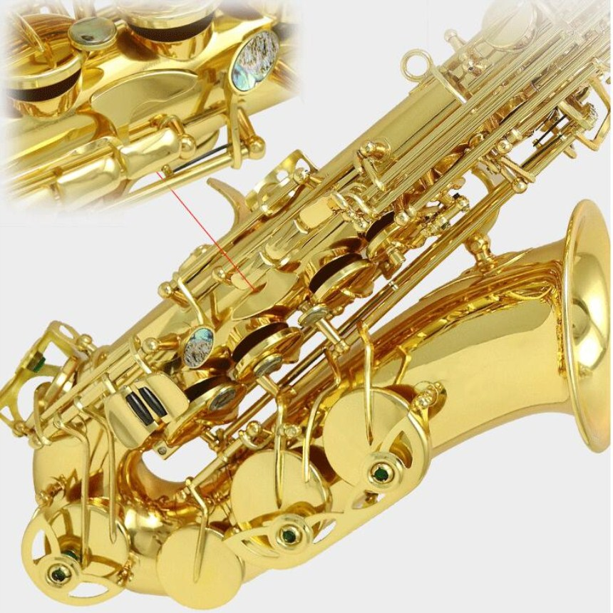 High quality Brand NEW YANAGISAWA WO1 992 Alto Saxophone Nickel Plated Gold Key Professional Sax Mouthpiece With Case Shipping musical instruments yanagisawa t wo37 tenor saxophone bb tone nickel silver plated tube gold key sax with case mouthpiece gloves